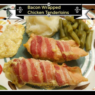 Bacon Wrapped Chicken Tenderloins (AKA Sunday Chicken).