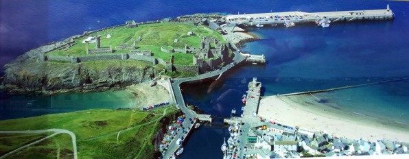 Peel Castle from Air