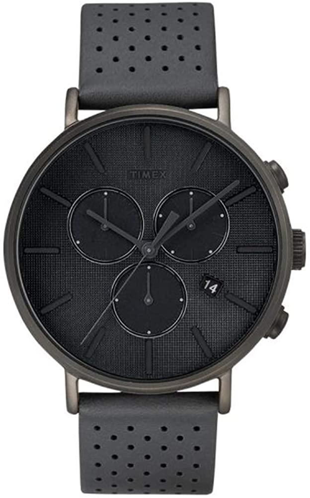 Timex Mens Chronograph Quartz Watch with Leather Strap TW2R97800:  Amazon.ca: Watches