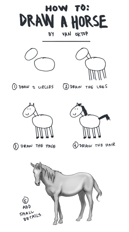 How to Draw a Horse by Van Oktop