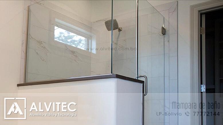 Mampara de baño en vidrio templado