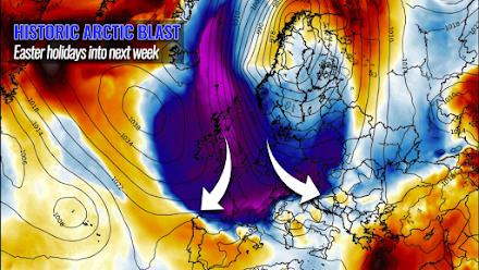 Ιστορική ψυχρή εισβολή για την εποχή στην Ευρώπη - Πιθανόν να επηρεάσει τα βόρεια τμήματα της Ελλάδας την επόμενη εβδομάδα