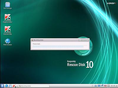 Quitar virus de la policía mediante Kaspersky Rescue Disk