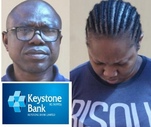 Keystone Bank's Top Staff, Rowly Isioro, Wife Arrested Over $1.49m Scam