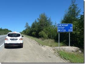 route de la Kolyma au depart de Magadan