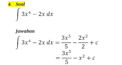 contoh integral tak tentu 4
