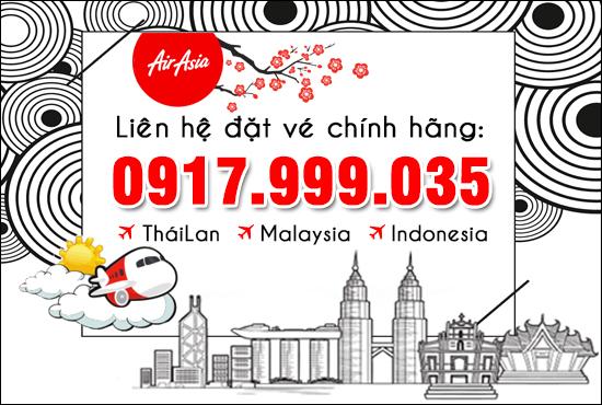 đại lý vé máy bay airasia chính hãng