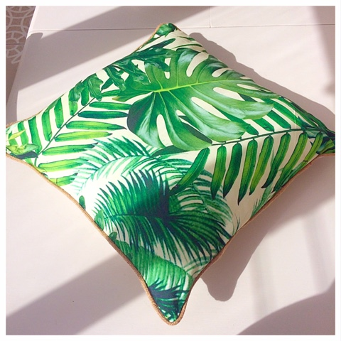 Penneys Primark Homeware: Green Printed Cushion