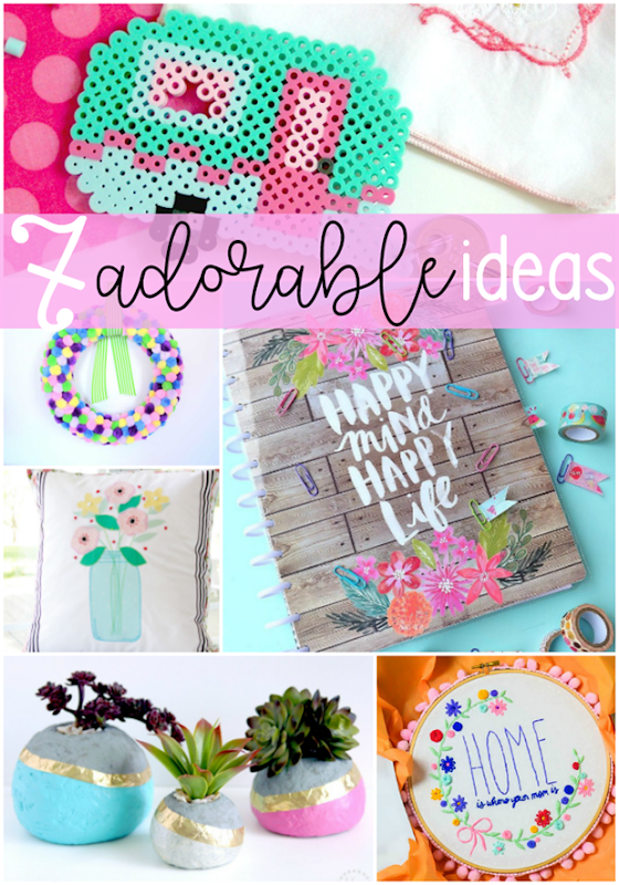 7 Adorable Ideas at GingerSnapCrafts.com #crafts #diy