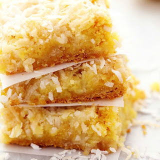 Ooey Gooey Lemon Coconut Butter Bars