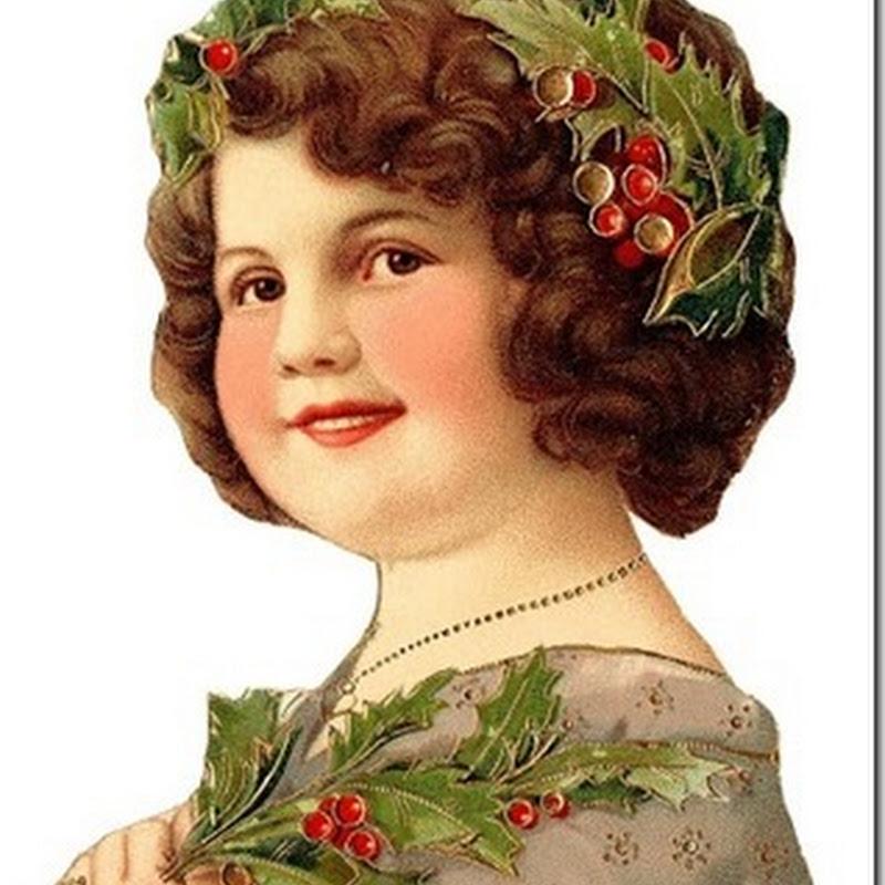 Imágenes navidad victorianas, caras de niña