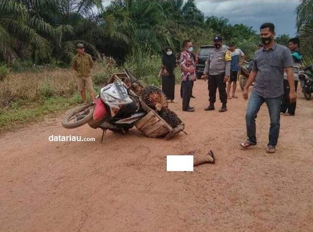 mengalami kaki putus usai ditebas oleh anak pemilik kebun sawit inisial JG  Kepergok Maling Buah Sawit, Kaki Pelaku Putus Dipotong Pemilik Kebun