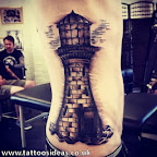 men side ribs lighthouse - tattoos ideas