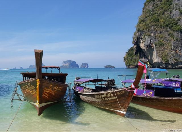 Long-tail boats at Railay Peninsula in Krabi
