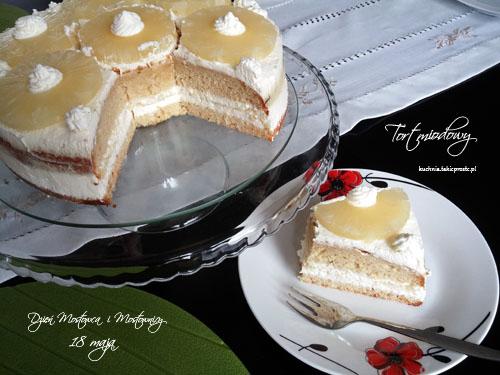 Tort miodowy z ananasem