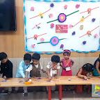 RAKSHA BANDHAN CELEBRATION BY PLAYGROUP SECTION (2017-18) AT WITTY WORLD, BANGUR NAGAR