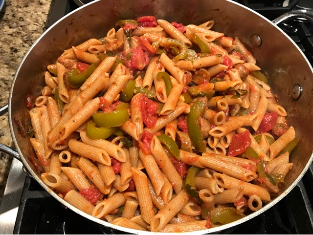 Sassy Wine Belly - Sausage and Peppers Pasta