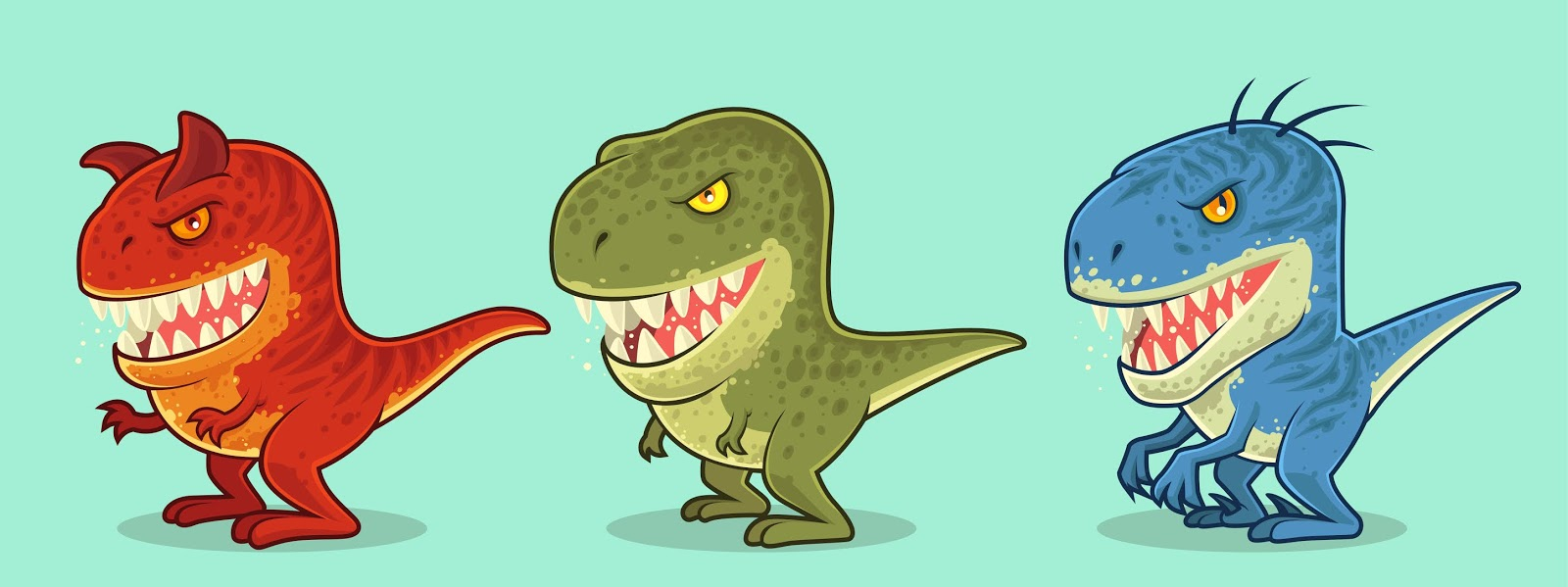 Cute Dinosaurs Character.jpg Free Download Vector CDR, AI, EPS and PNG Formats