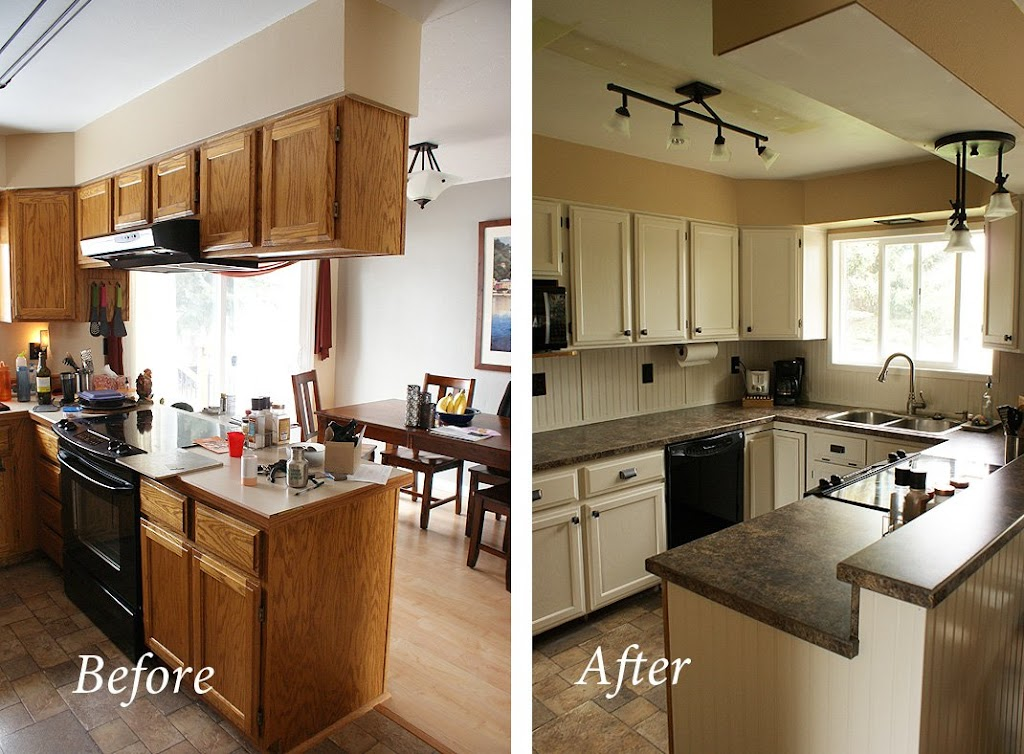cheap kitchen makeover ideas before and after my cheap diy kitchen remodel 27679