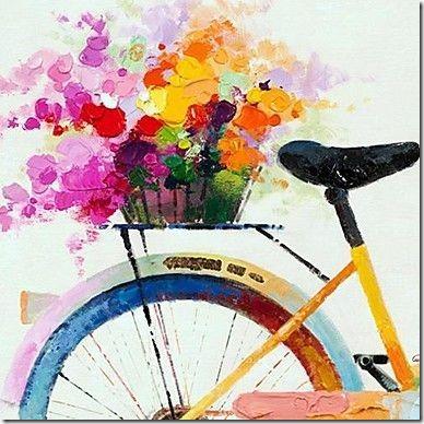 imágenes de bicicletas con flores (1)