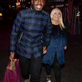 WWW.ENTSIMAGES.COM -   Ben Ofoedu and Vanessa Feltz   at   A Night With Nick at INK, Leicester Square, London December 4th 2013                                            Photo Mobis Photos/OIC 0203 174 1069