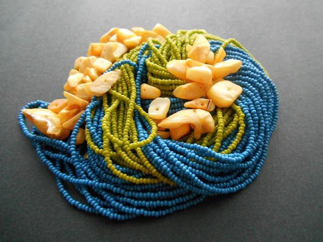 Olive Creme Bead Color Idea
