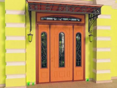 Входные стальные двери с фрамугой купить в СПб цена
