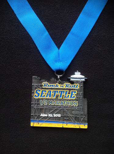 2013 Rock 'n' Roll Seattle Half Marathon medal