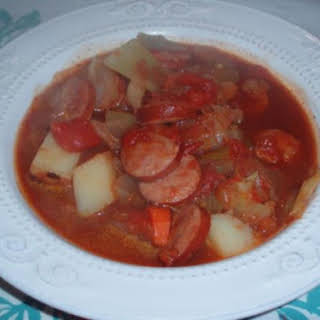 Cabbage and Sausage Soup.