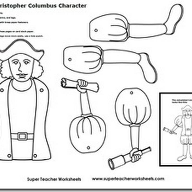 Cristóbal colón recortable muñeco articulado