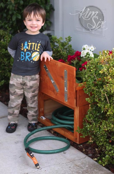 Cedar Planter Box with Hidden Hose Storage The Kim Six Fix