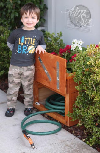Cedar Planter Box With Hidden Hose Storage The Kim Six Fix