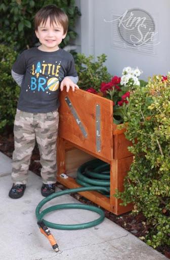... Secret Compartment In Flower Pot To Hide Hose