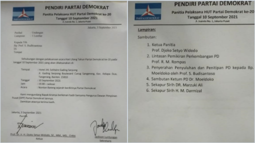 Surat Undangan HUT Demokrat Kubu Moeldoko Beredar, Herzaky: Memalukan!