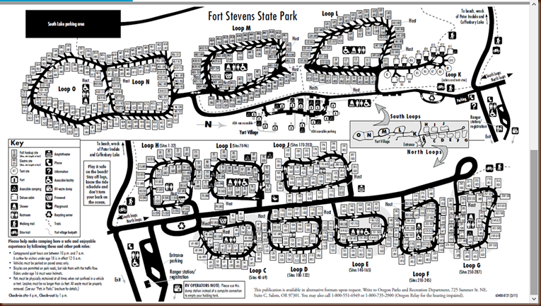 Fort Stevens State Park Map Mud on the tires Full time RV Adventure: OR    Fort Stevens State