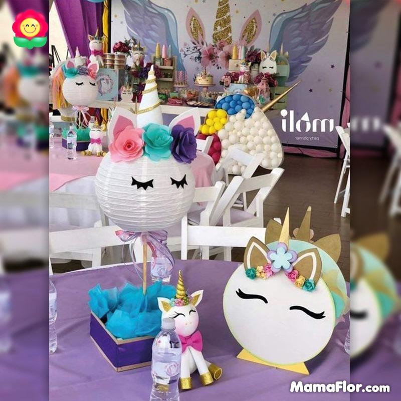 centros de mesa unicornios fiesta 9
