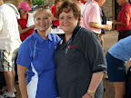 Debbie Vinson, 2009 Golf Tourn. Chair, and Mary King, MMOW Executive Director
