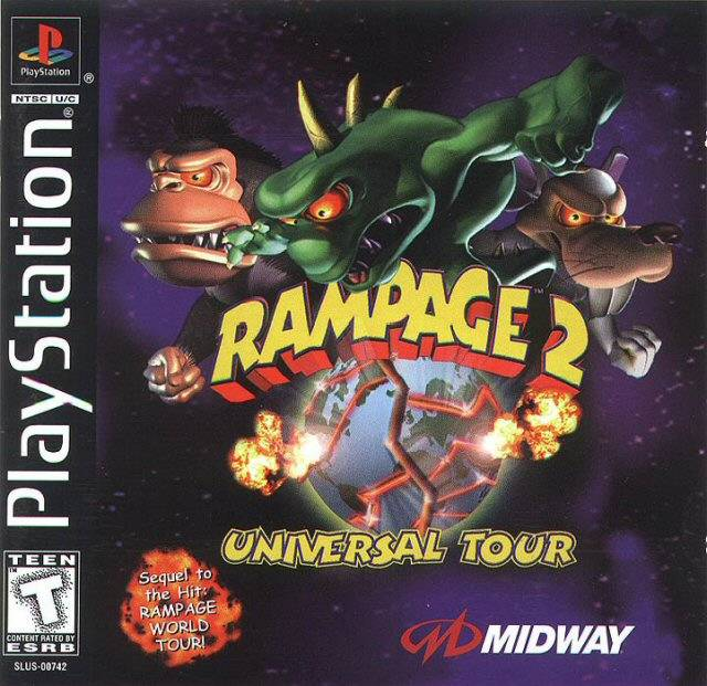 Rampage 2: Universal Tour PSX Cover