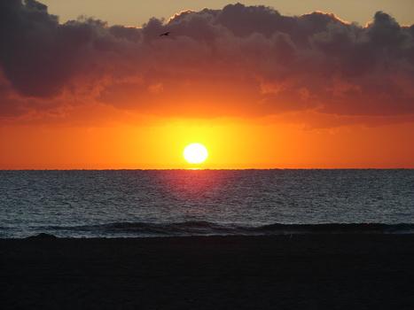 Sonnenaufgang an der Atlantikküste in Miami