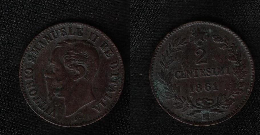 Mi colección de monedas italianas. 2%20centesimi%201861%20M