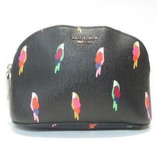 Kate Spade MINT Flock Party Medium Cosmetic Bag