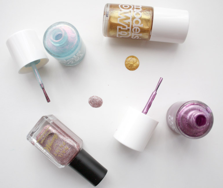 barry m and models own iridescent nail varnish for the party season