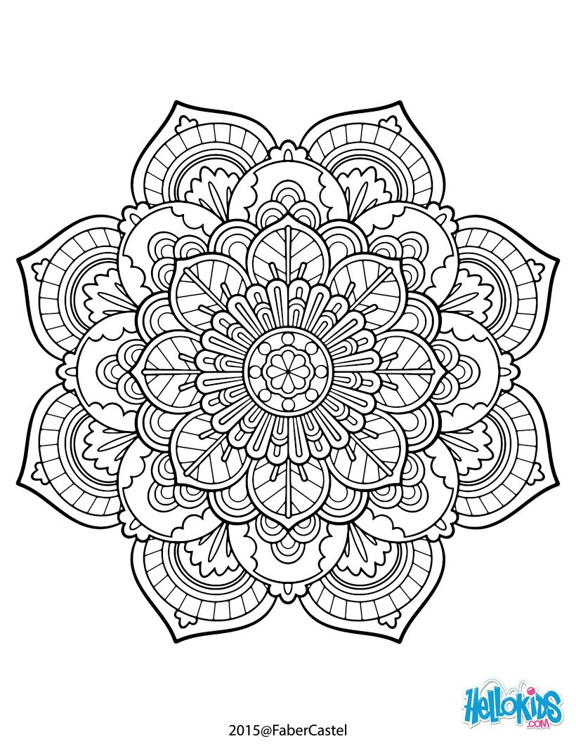 best hd flower mandala coloring pages for adults pictures. Black Bedroom Furniture Sets. Home Design Ideas