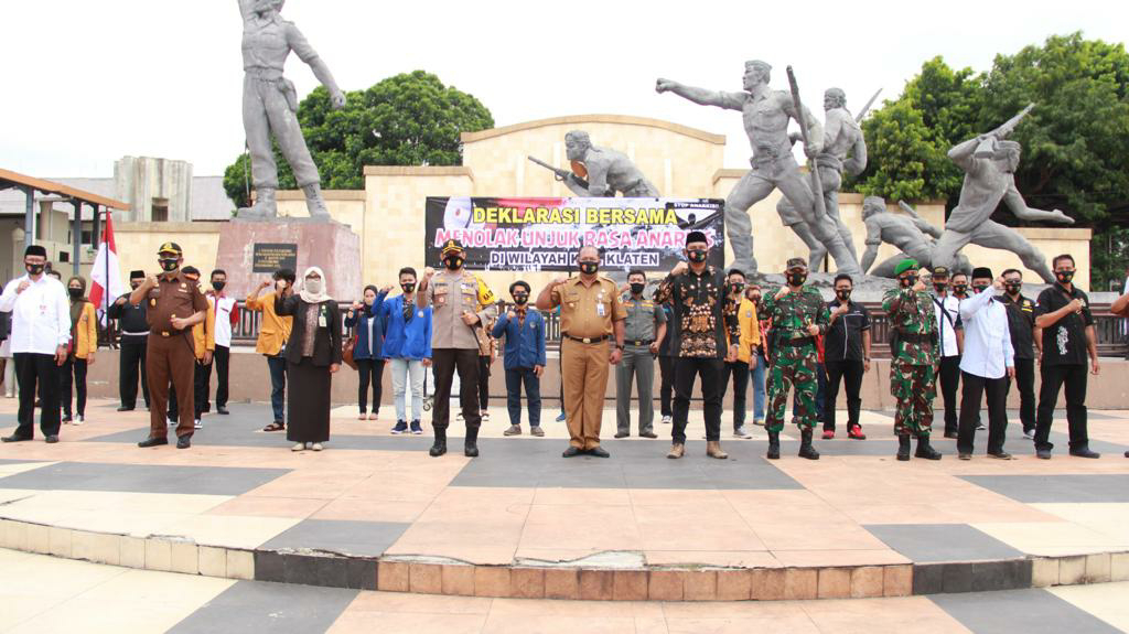 Polres Klaten Bersama Elemen Masyarakat Deklarasi Tolak Demo Anarkis