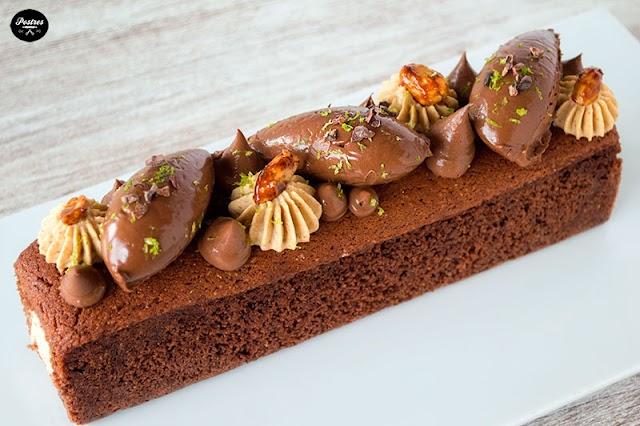 CAKE de CHOCOLATE con CACAHUETE y LIMA