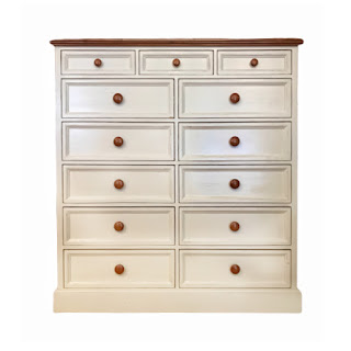 White Twelve-Drawer Dresser