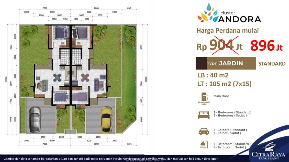 Rumah Andora Tipe 7x15 Ext