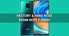 Reset Xiaomi Redmi Note 9 / Pro