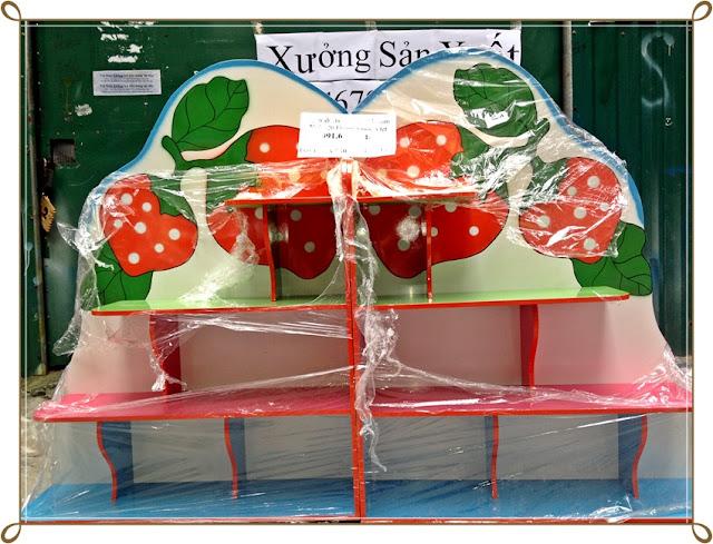 Tủ đồ chơi 2 khối hình quả dâu