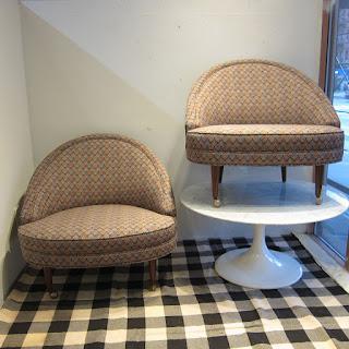 Slipper Chair Pair